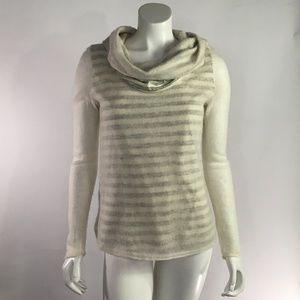 Anthropologie Moth Sweater Cream Stripe Small S